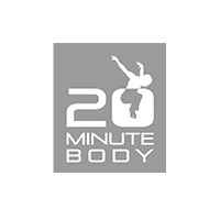 complete branding and identity systems for 20 Minute Body, a fitness brand